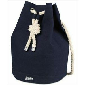 Jean Paul Gaultier blue canvas backpack